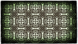 Green Black and White Vintage Ornament Background Pattern Image