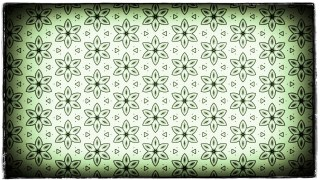 Green Black and White Vintage Seamless Floral Background Pattern