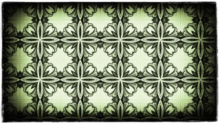 Green Black and White Vintage Seamless Ornament Background Pattern Graphic