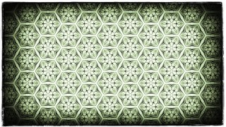 Green Black and White Vintage Decorative Floral Pattern Wallpaper