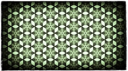 Green Black and White Vintage Decorative Floral Seamless Pattern Wallpaper Design