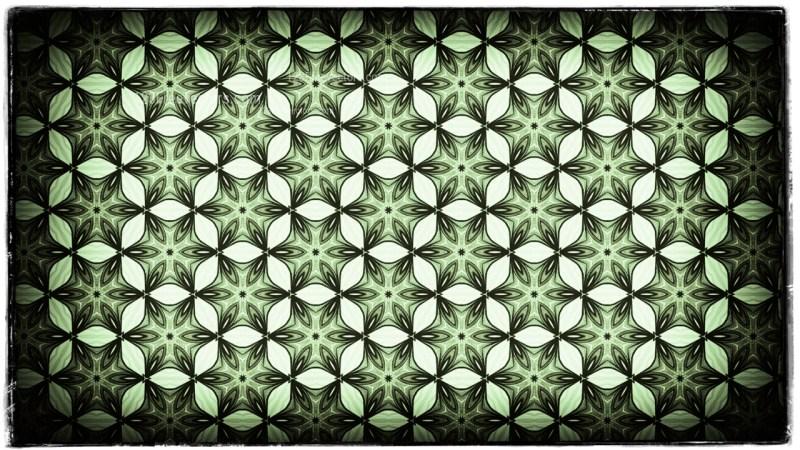 Green Black and White Vintage Decorative Floral Seamless Pattern Wallpaper Design