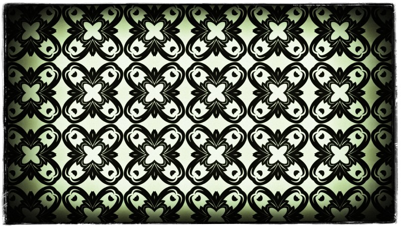 Green Black and White Vintage Floral Seamless Pattern Wallpaper Design Template