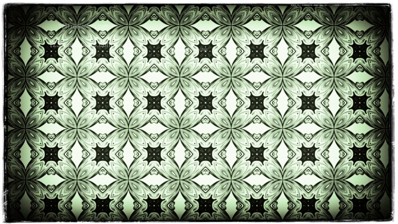 Green Black and White Vintage Ornamental Seamless Pattern Wallpaper Template