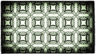 Green Black and White Vintage Decorative Floral Ornament Wallpaper Pattern Image