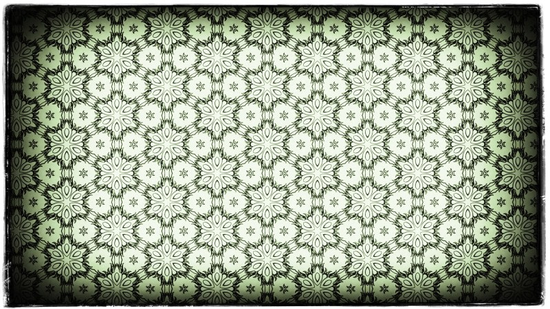 Green Black and White Vintage Decorative Ornament Wallpaper Pattern