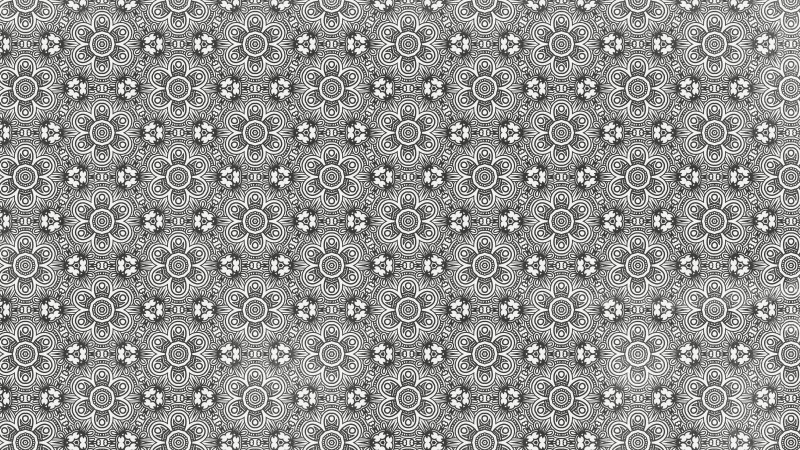 Grey Decorative Floral Seamless Pattern Background Design