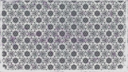 Grey Floral Ornament Background Pattern Template
