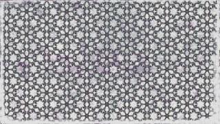 Gray Decorative Floral Pattern Wallpaper