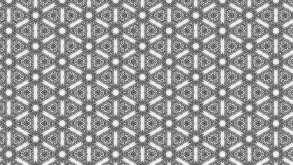 Gray Floral Pattern Wallpaper
