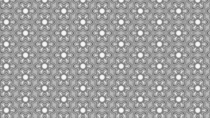 Grey Floral Ornament Wallpaper Pattern Graphic