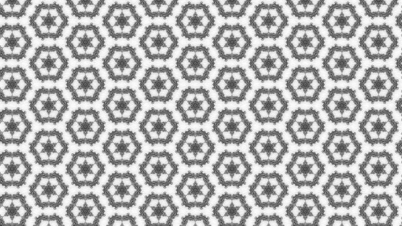 Gray Flower Wallpaper Pattern