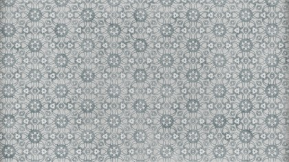 Grey Decorative Floral Pattern Background