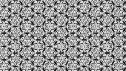 Grey Seamless Ornamental Pattern Background
