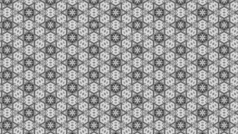 Gray Decorative Floral Ornament Background Pattern Template