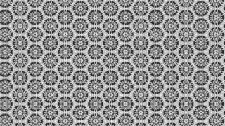 Gray Ornamental Vintage Background Pattern