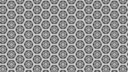 Gray Ornamental Vintage Background Pattern