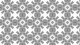Gray Vintage Decorative Floral Pattern Background