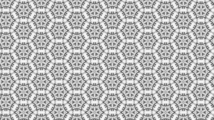 Grey Vintage Ornamental Seamless Pattern Background Design
