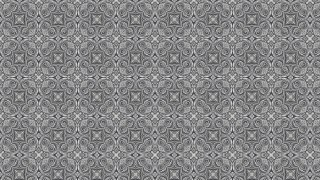 Gray Vintage Seamless Ornamental Pattern Background