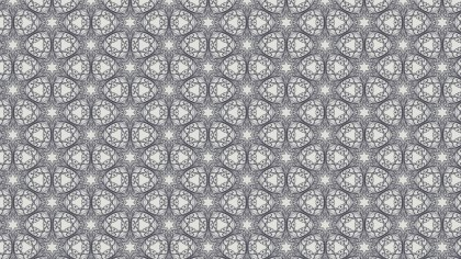 Gray Vintage Flower Background Pattern