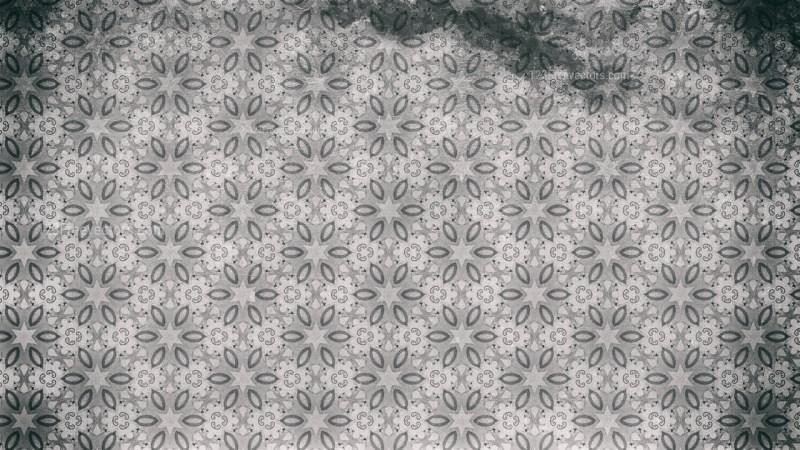 Gray Vintage Seamless Ornamental Pattern Wallpaper