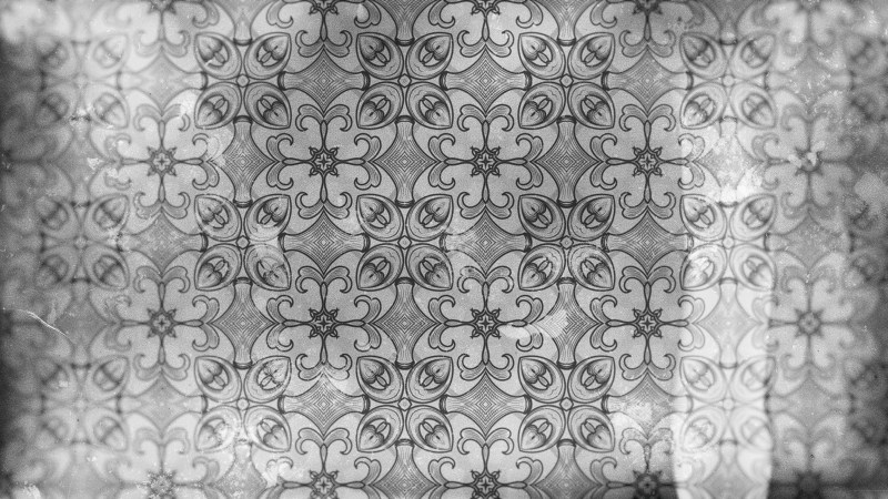Grey Vintage Decorative Floral Ornament Wallpaper Pattern Image