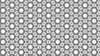 Gray Geometric Ornament Seamless Background Pattern Design