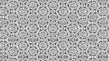 Gray Seamless Geometric Ornament Background Pattern Design Template