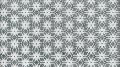 Gray Floral Seamless Geometric Pattern Wallpaper Template