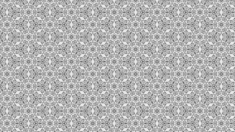 Grey Decorative Seamless Pattern Background