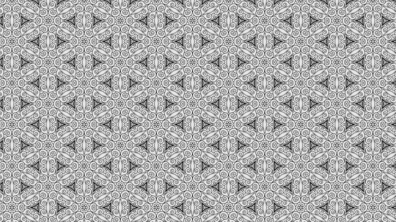 Gray Floral Seamless Geometric Pattern Background Template