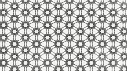 Gray and White Decorative Ornament Background Pattern