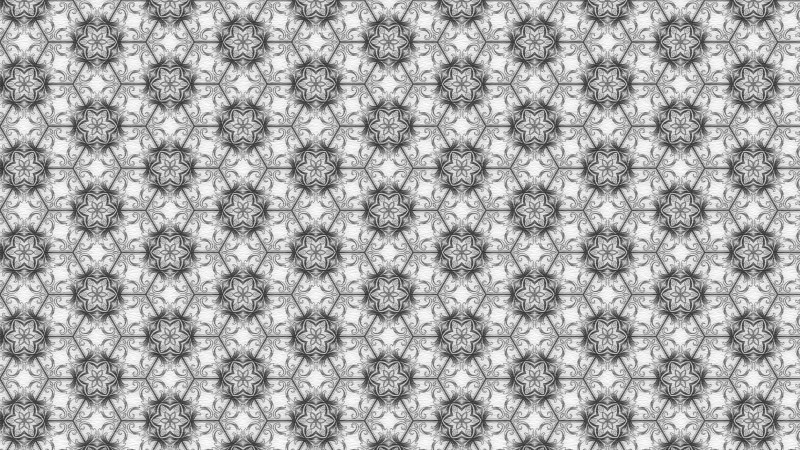 Gray and White Flower Background Pattern