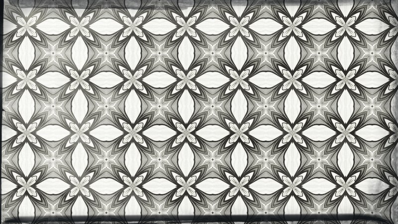 Grey and White Vintage Decorative Floral Pattern Background