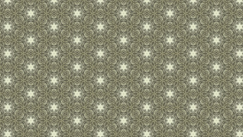 Khaki Vintage Floral Seamless Pattern Background Graphic