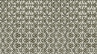 Khaki Vintage Decorative Floral Pattern Wallpaper