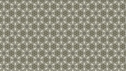 Khaki Vintage Decorative Floral Pattern Wallpaper