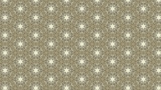 Khaki Vintage Floral Pattern Wallpaper