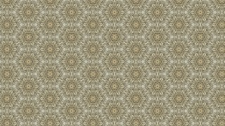 Khaki Vintage Ornamental Pattern Wallpaper