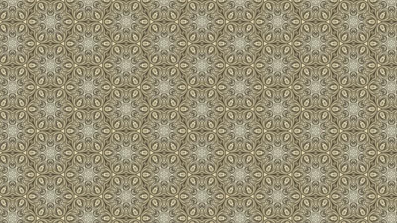 Khaki Vintage Ornamental Seamless Pattern Wallpaper Template