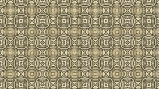 Khaki Vintage Seamless Ornamental Pattern Wallpaper