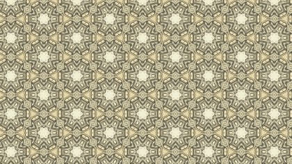 Khaki Vintage Ornament Wallpaper Pattern Design