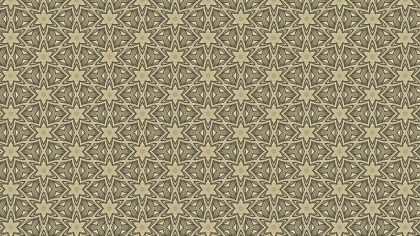 Khaki Vintage Floral Pattern Texture Background Template