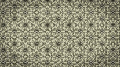 Khaki Vintage Decorative Floral Pattern Background