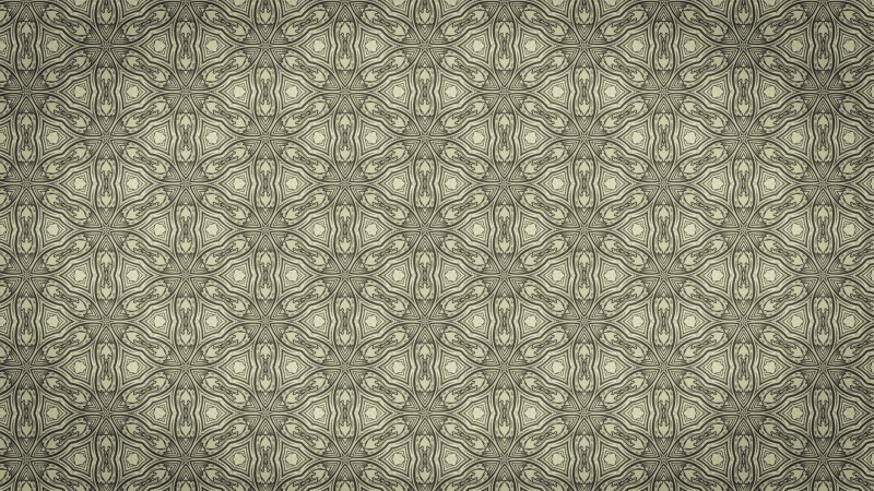 Khaki Vintage Floral Pattern Background