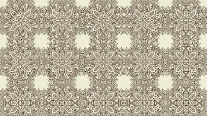 Light Brown Vintage Ornamental Pattern Wallpaper