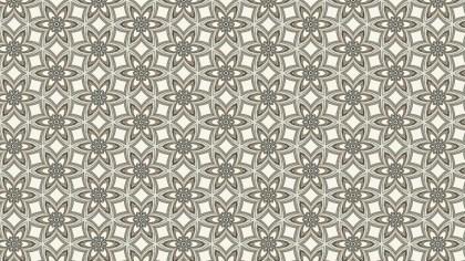 Light Brown Vintage Floral Ornament Wallpaper Pattern Graphic