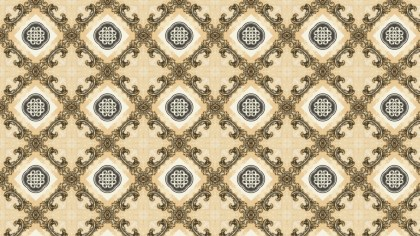 Light Brown Vintage Seamless Floral Wallpaper Pattern