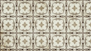 Light Brown Vintage Seamless Floral Background Pattern